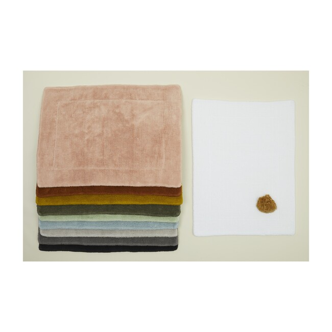 Simple Terry Bath Mat, Light Grey