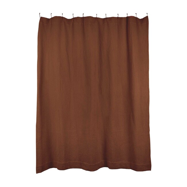 Simple Waffle Shower Curtain, Terracotta