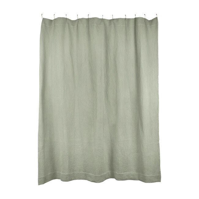 Simple Waffle Shower Curtain, Sage
