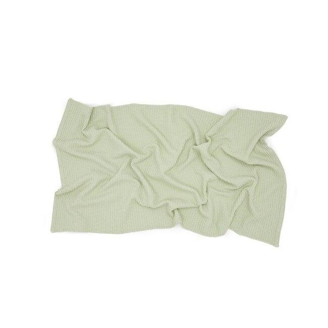 Simple Waffle Bath Towel, Sage