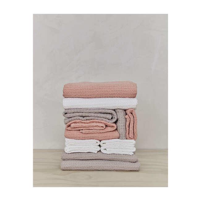 Set of 2 Simple Waffle Washcloths, Blush