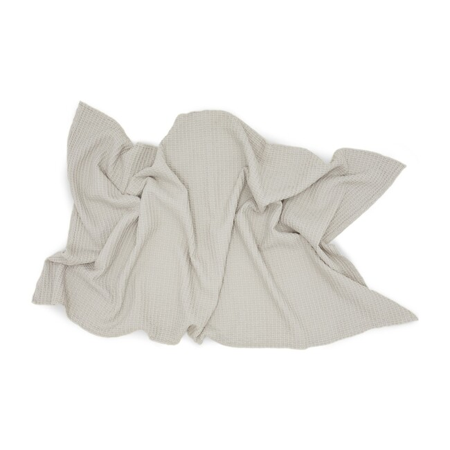 Simple Waffle Bath Towel, Light Grey