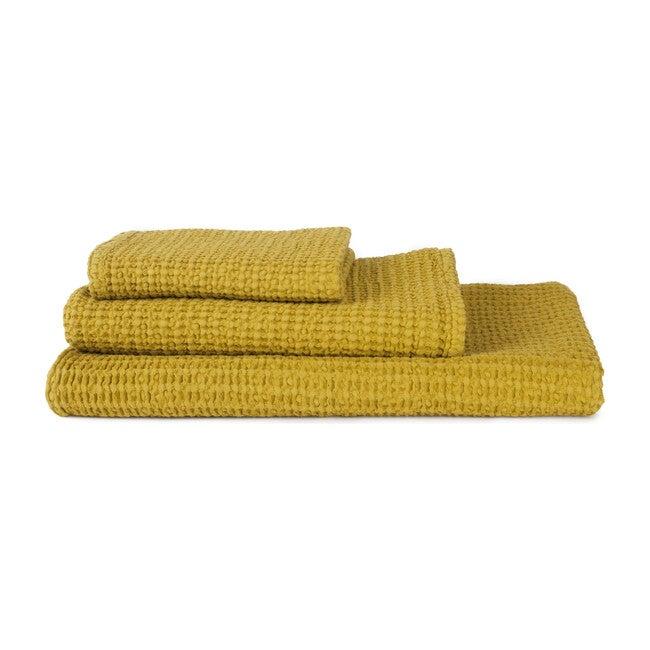 Simple Waffle Hand Towel, Mustard