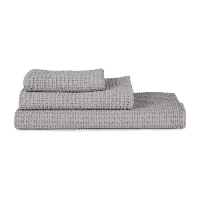 Simple Waffle Hand Towel, Light Grey