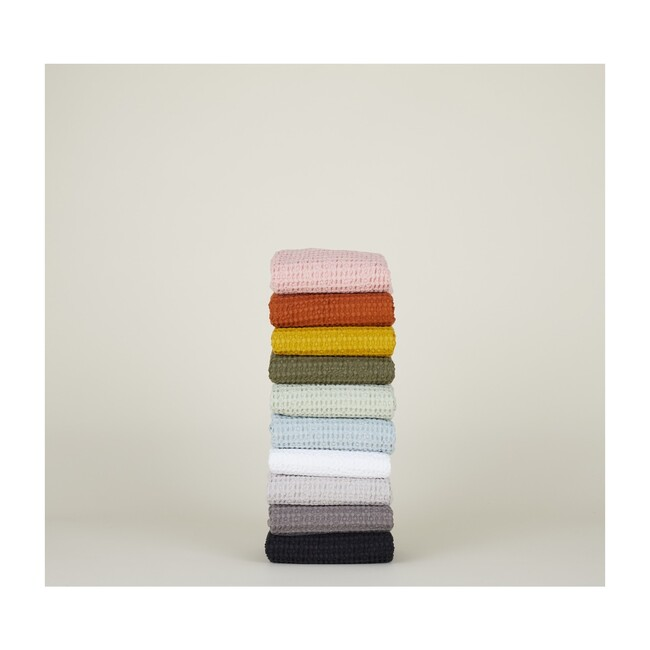 Simple Waffle Hand Towel, Olive