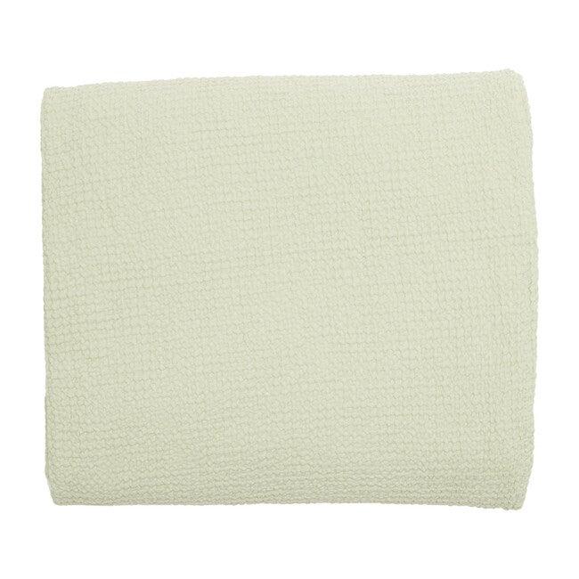 Waffle Cotton Lightweight Blanket, Sage