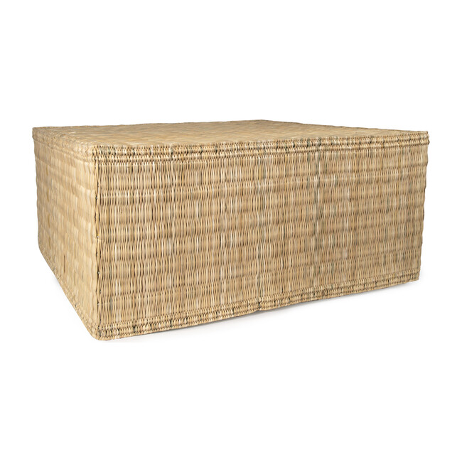 Woven Reed & Wood Coffee Table, Natural