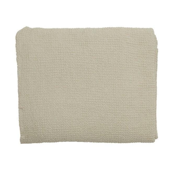 Waffle Cotton Lightweight Blanket, Light Grey