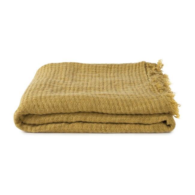 Simple Linen Throw, Mustard