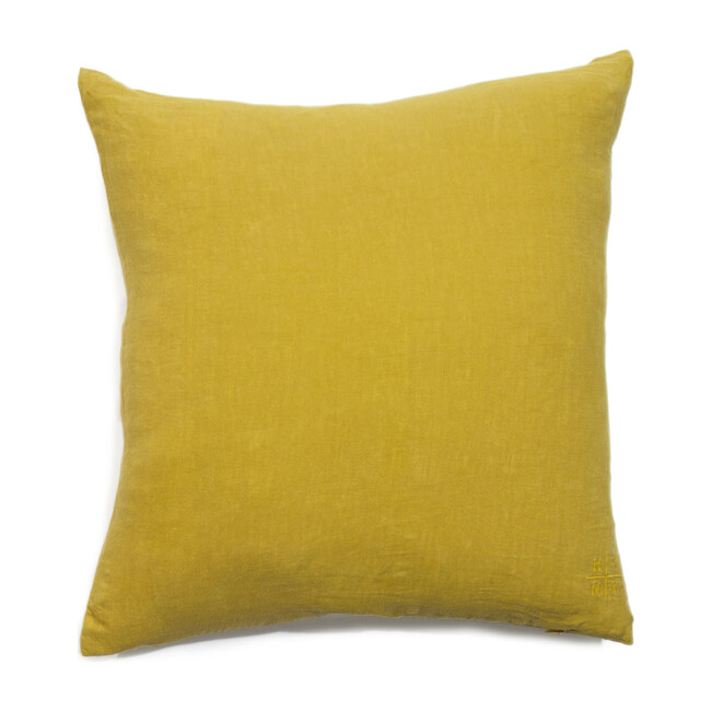 Simple Linen Decorative Pillow, Mustard