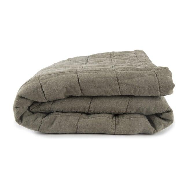 Simple Linen Quilt, Olive