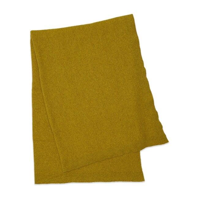 Simple Oversize Knit Wool Throw, Mustard