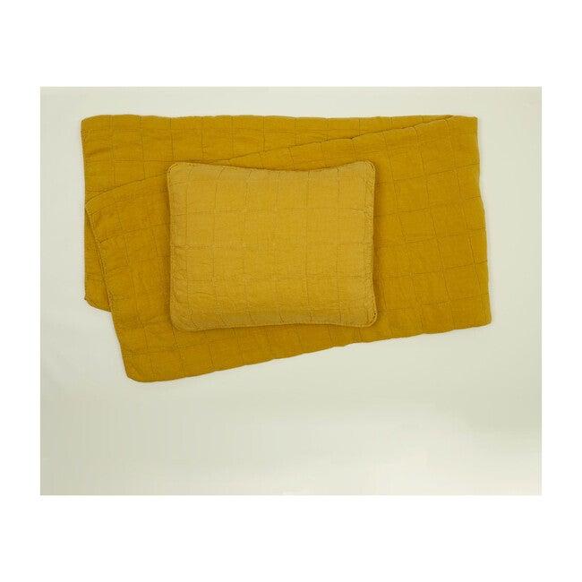 Simple Linen Quilt, Mustard