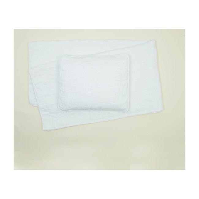 Simple Linen Quilt, White