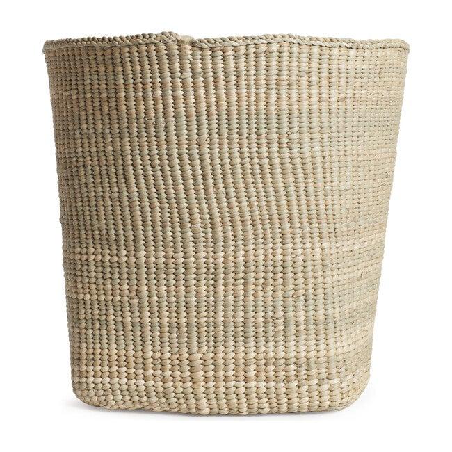 Woven Grass Short Basket, Natural