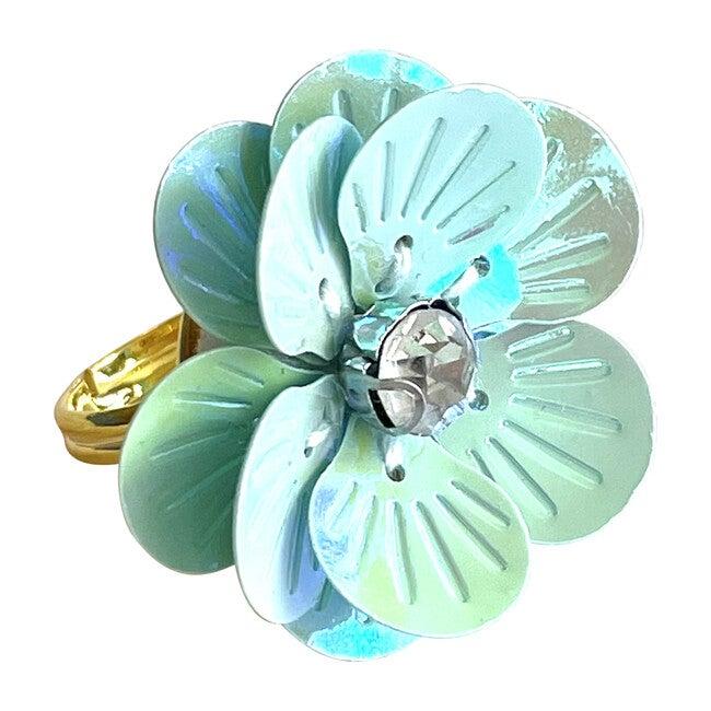 Flower Power Ring, Sea Glass Diamond