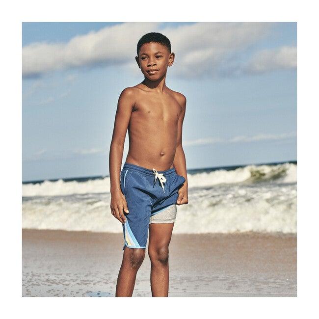 Kid's Anchor Swim Trunk, Navy Hobie