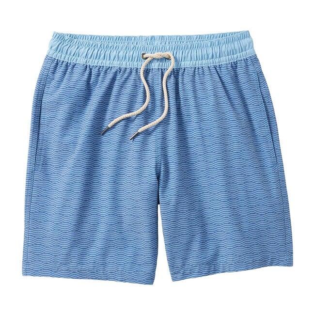 Men's Bayberry Swim Trunk, Blue Waves