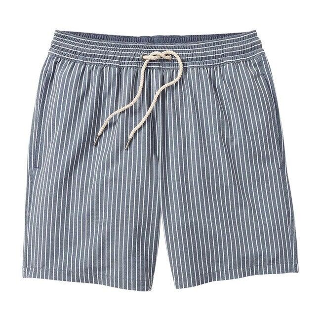 Men's Bayberry Swim Trunk, Dark Denim Stripe
