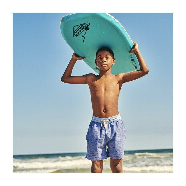 Kid's Bayberry Swim Trunk, Blue Waves
