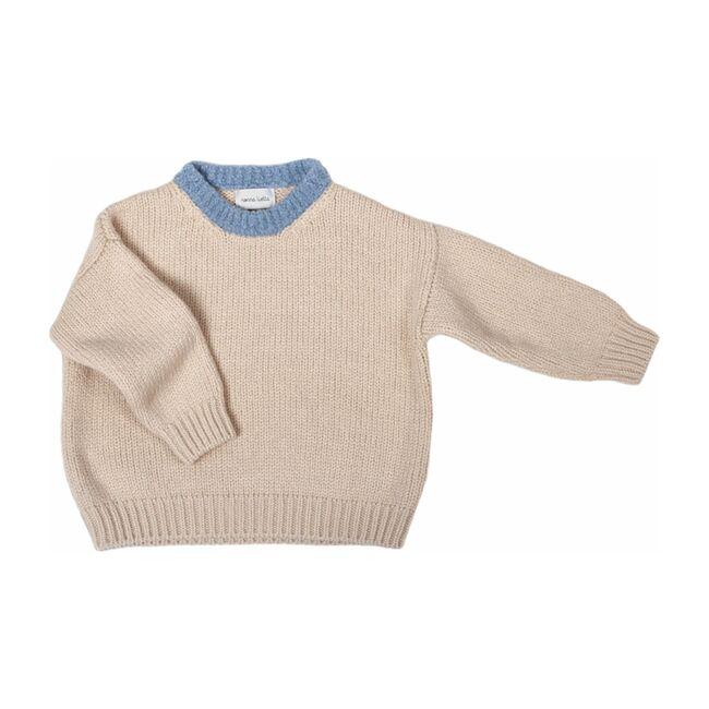 Women's Sweater,Oyster / Azzurro