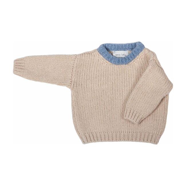 Sweater, Oyster / Azzurro
