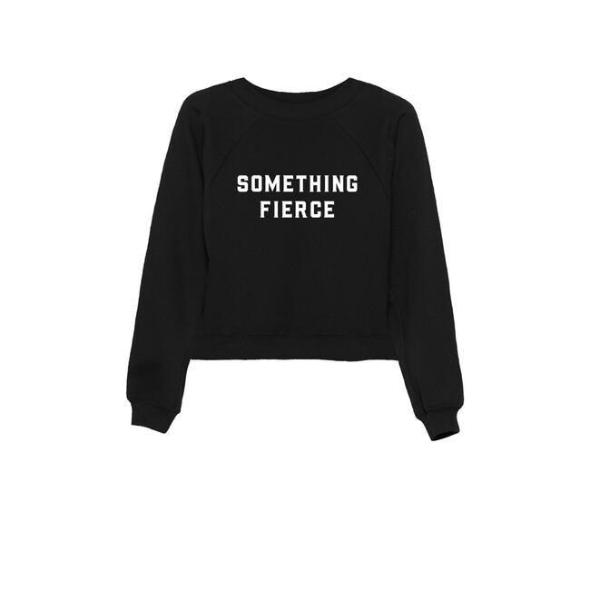 Something Fierce Women's Sweatshirt, Black - Sweatshirts - 1