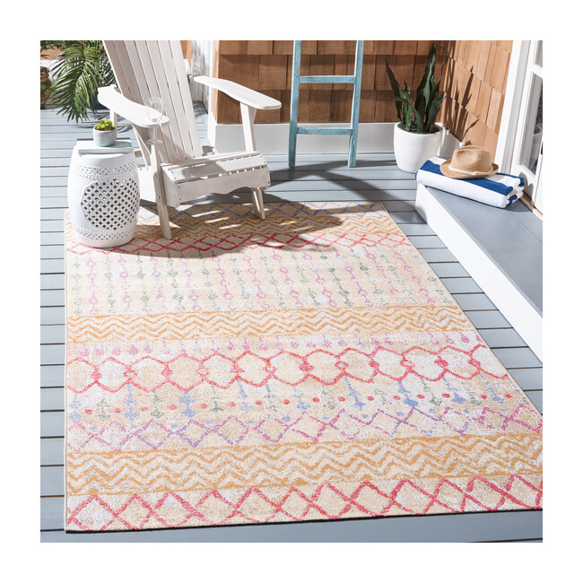 Summer Hannah Indoor/Outdoor Rug, Orange/Red Multi