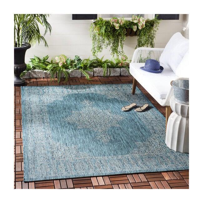 Courtyard Adeline Indoor/Outdoor Rug, Blue