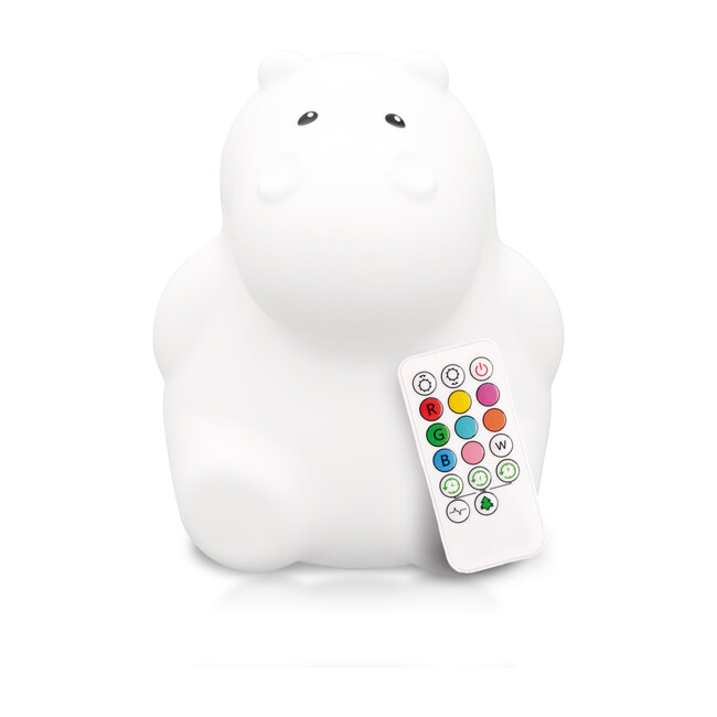 Hippo Nightlight, White