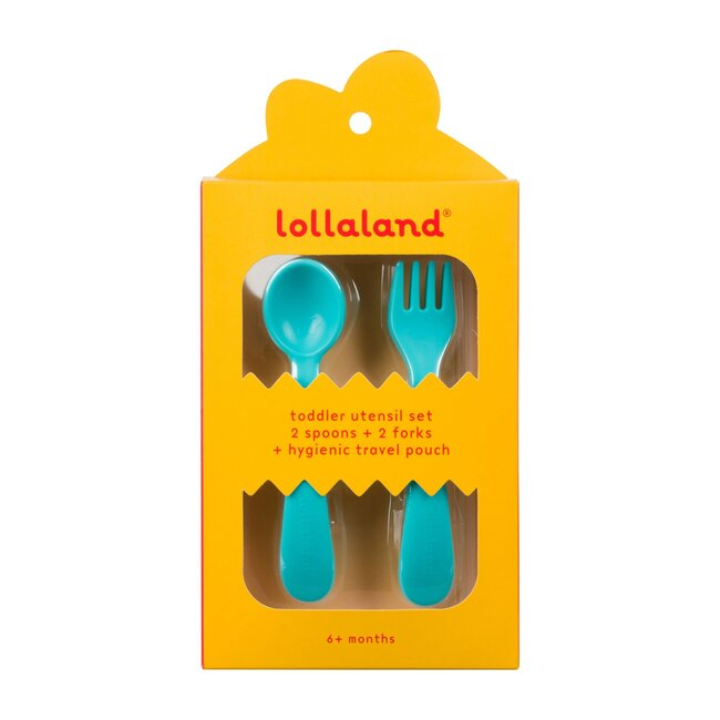 Lollaland 5-Piece Toddler Utensil Set, Turquoise