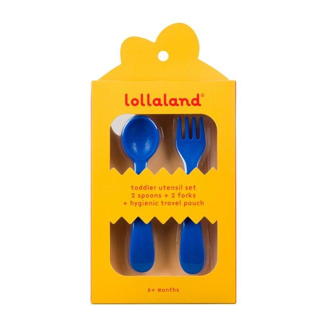Lollaland 5-Piece Toddler Utensil Set, Blue