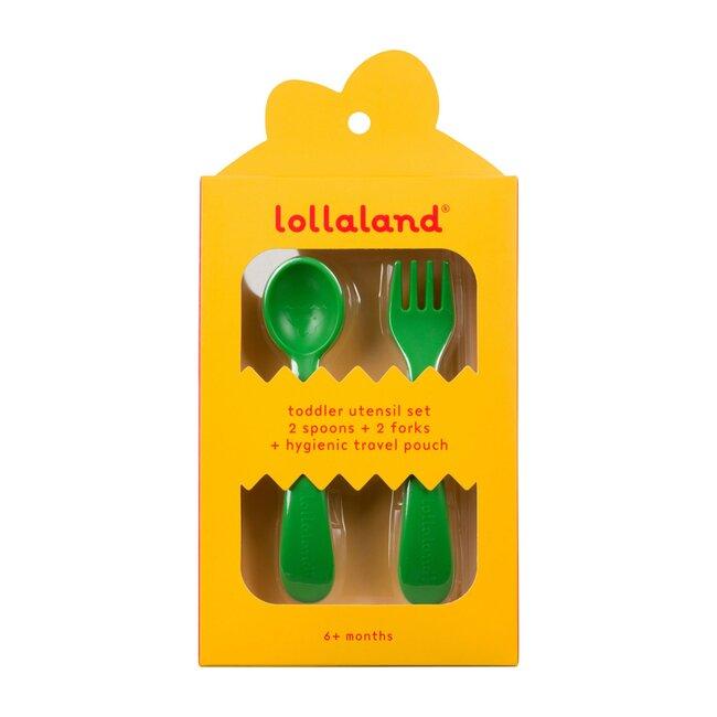 Lollaland 5-Piece Toddler Utensil Set, Green