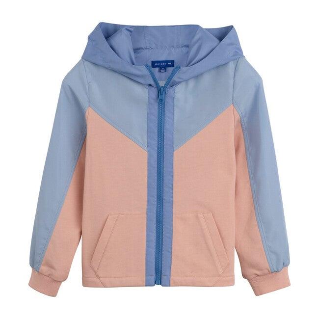 Clay Zip Hoodie, Pink Multi