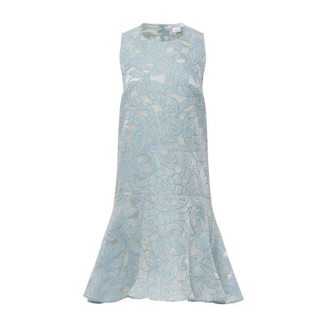 Women's Drop Waist Shift Dress, Cerulean Light Blue