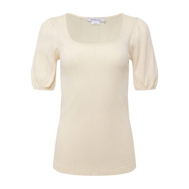 Women's Pointelle Cotton T-Shirt, Raffia