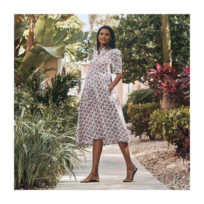 Women's Shirred Sleeve Dress, Peony