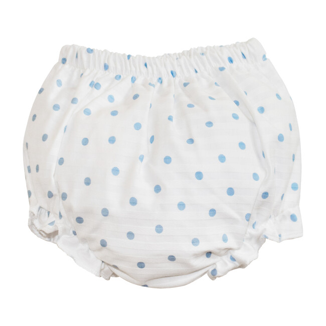 Polka Dot Bloomers, White & Blue