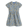 Emmalyn Short Sleeve Collared Dress, Blue Yellow Floral - Dresses - 1 - thumbnail