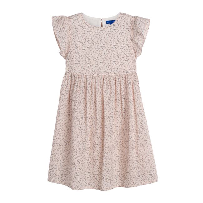 Lottie Dress, Light Pink Scattered Flower - Dresses - 1