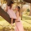 Rosie Smocked Dress, Dusty Rose Check - Dresses - 2