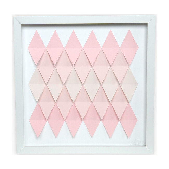 Pink Dreams,  Rhombus Framed Applique Wall Art