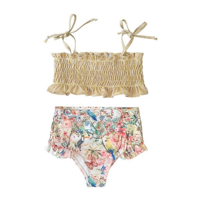 Ruching Bikini, Secret Garden