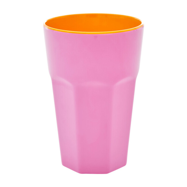 Tall Melamine Cup, Pink/Orange Two Tone