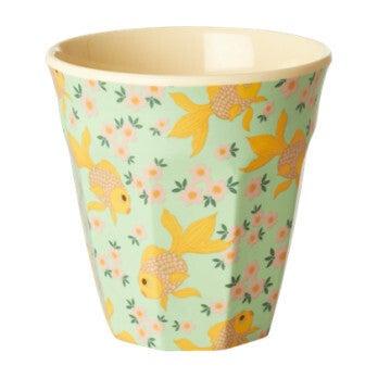 Gift Set of 6 Small Melamine Kids Cups, Goldfish