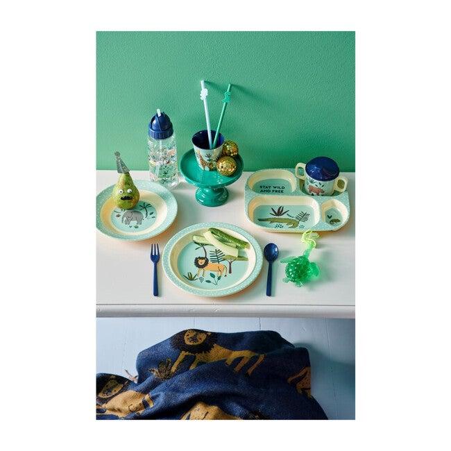 Melamine Kids Bowl, Blue Jungle Animal