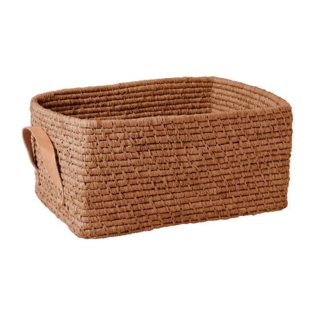 Raffia Rectangular Basket, Tea
