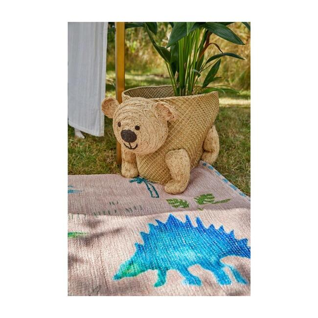 Bear Seagrass and Raffia Storage Basket, Natural