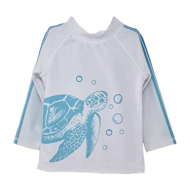 UPF 50 Graphic Rash Guard Swim Top