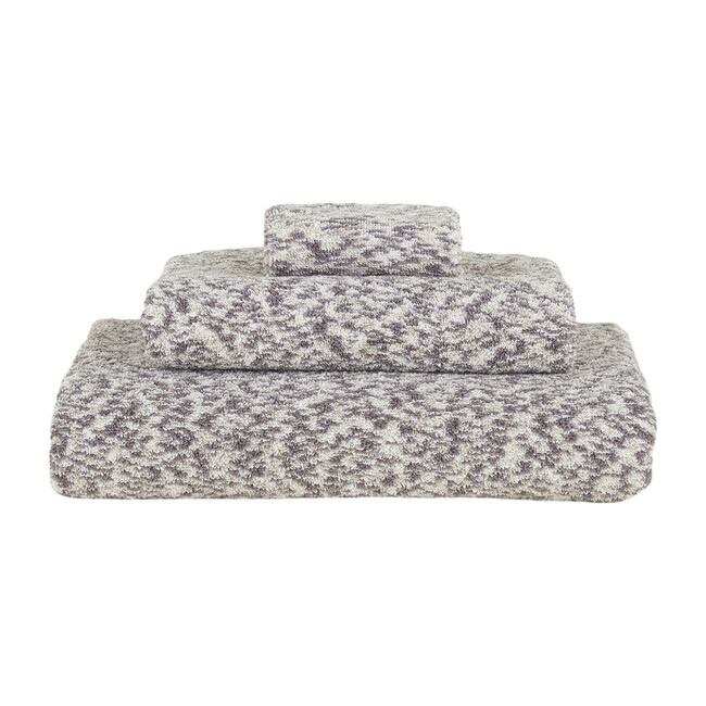 Space Dye Terry Hand Towel, Light Grey - Towels - 1